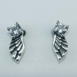 Earring Wing 6x14mm. Circonia
