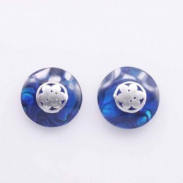 Earring Round 17mm. Abalon...