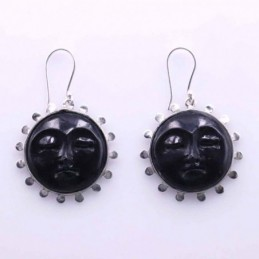 Earring Round Moon 27mm....