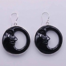Earring Round Moon 30mm....
