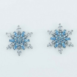 Earring  Flower 15mm. Circonia