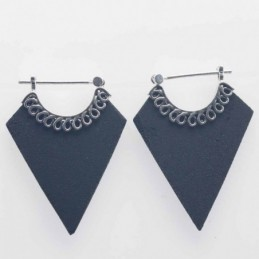 Earring Hand Fan 21x29mm....