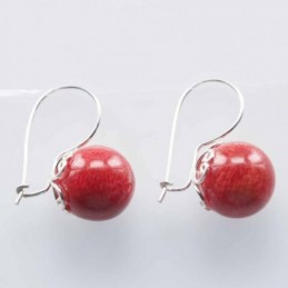 Earring Ball 9mm. Coral