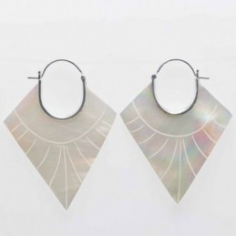 Earring Rhombus Fan...