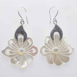 Earring Round Flower...