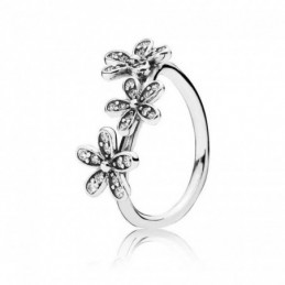Ring  flower 3  8mm. Circonia
