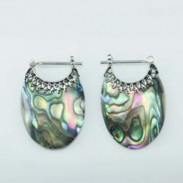 Earring Oval hand 17x24mm....