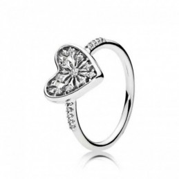 Ring heart 14mm. Circonia