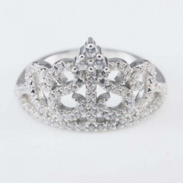 Ring Crown 15mm. Circonia