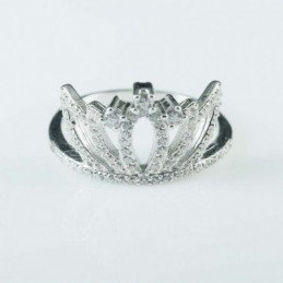 Ring Crown 13mm. Circonia