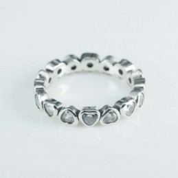 Ring Small heart 4mm. Circonia