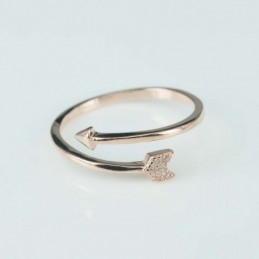 Ring  Arrow   4mm.  rose...