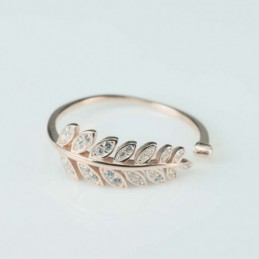 Ring  Leaf  7x17mm. rose...