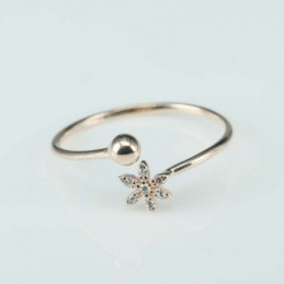 Ring  Flower+ball  3+6mm....