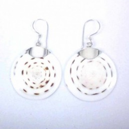 Earring Round Mix Shell