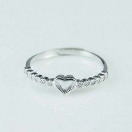 Ring  Heart   2+5mm.  Circonia