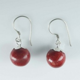 Earring Ball 10mm. Coral