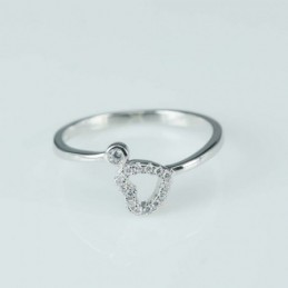 Ring  heart  3+6mm.  Circonia