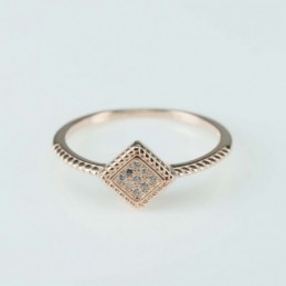 Ring  Rhombus  8mm.  rose...