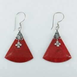 Earring Triangle Coral