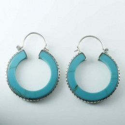 Earring Round Turquoise...