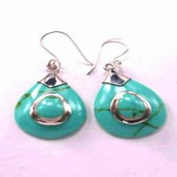 Earring Drop Turquoise