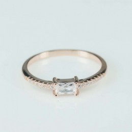Ring  Square  4mm.  rose...