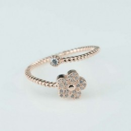 Ring  Flower  3+7mm.  rose...