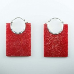 Earring Hand Fan Coral