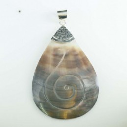 Pendant Drop Black MOP Shell