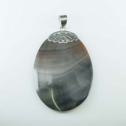 Pendant Oval Black MOP Shell