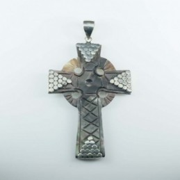 Pendant Cross Black MOP Shell
