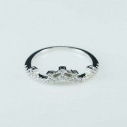 Ring  Crown  6mm.  Circonia