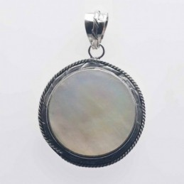 Pendant Round 28mm. Mother...