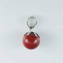 Pendant  Ball 12mm. Coral