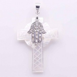Pendant Cross MOP Shell
