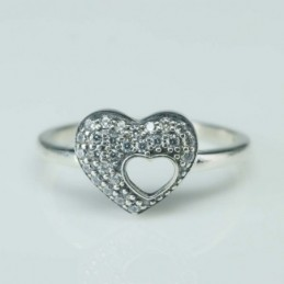 Ring  Heart 10mm. Circonia
