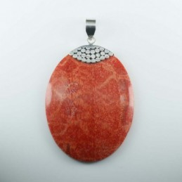 Pendant Oval Coral