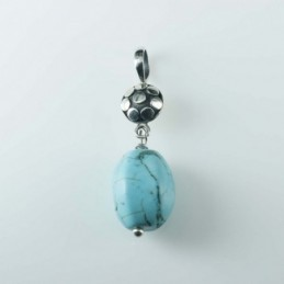 Pendant Oval Turquoise...