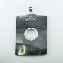 Pendant Rectangle Black MOP...