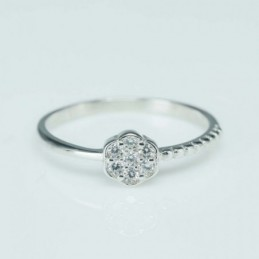 Ring Flower 6mm. Circonia