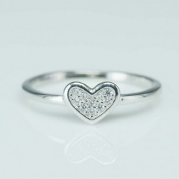 Ring  Heart 7mm. Circonia