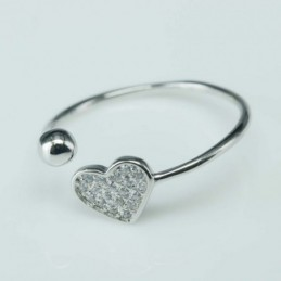 Ring Heart with ball 8mm....