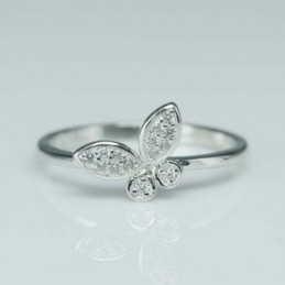 Ring Butterfly 10mm. Circonia