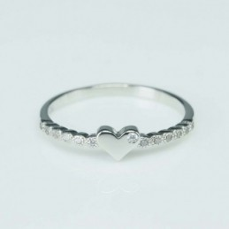 Ring Heart 4mm. Circonia