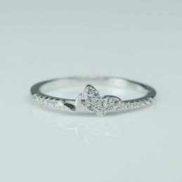 Ring Butterfly 4mm. Circonia
