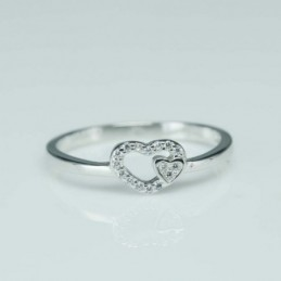 Ring  heart  6mm.  Circonia