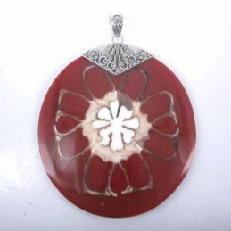 Pendant Round Shell Red Color