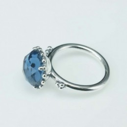 RIng Half Ball 13mm. Circonia