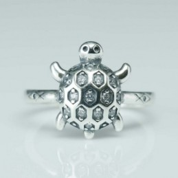 RIng Turtle 9x14mm. Circonia